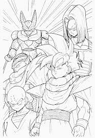 Coloring Page Dragon Ball Z Cartoons 34 Printable Pages