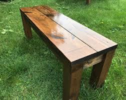 Rustic Bench Farm Farmhouse Table Wood Wooden Dining Room Entryway Decor