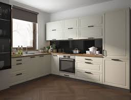 l form küchenzeile amaro einbauküche 220x300cm lava front cremeweiß matt lackiert