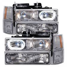 1994-1999 Chevy Truck/Suburban New Chrome 8-Piece Headlights Set W ... Billet Front End Dress Up Kit With 165mm Rectangular Headlights Dna Motoring For 0306 Chevy Silveradocssicavalanche Led Drl 9902 Silverado 1 Piece Grille Cversion Dash Amazoncom Anzousa 111302 Headlight Assembly Automotive 2019 Chevrolet Top Speed 2007 2013 Truck Halo Install Package Chevy Silverado Ss 12500 Crystal Clear Morimoto Xb Fog Lights Retrofit Source 2017 2500hd Reviews And Rating Motor Trend Canada