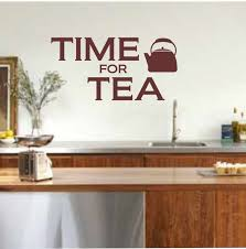 Kitcheneasy Handmade Kitchen Wall Art Ideas Time For Tea Quotes Decal