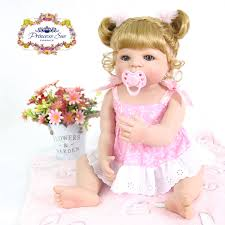 Reborn Toddler Baby Girls Vinyl Dolls Lifelike Princess Blonde