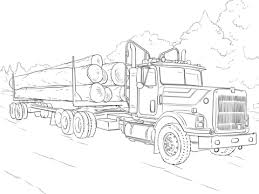 Click To See Printable Version Of Log Truck Coloring Page