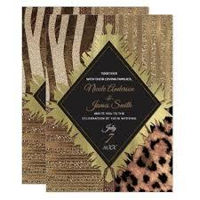 Lioness Safari Chic Jungle Glam Modern Wedding Card