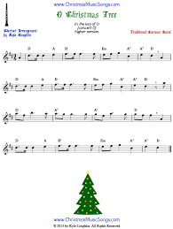 O Christmas Tree Sheet Music In The Upper Register Arranged For Clarinet To Play Along