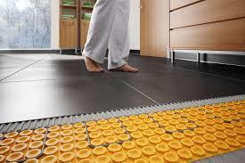 Tiling A Bathroom Floor Youtube by Flooring How To Install Radiant Heat System Underneath Flooring