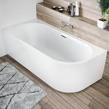 riho desire corner raumspar badewanne mit verkleidung weiß