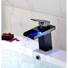 Wall Mounted Bathroom Faucets Oil Rubbed Bronze by Cosy Bathroom Sink Waterfall Faucets Single Handle Bathroom Faucet