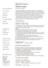 Sample Of Waiter Resumes