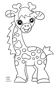Giraffe Color Pages Baby Coloring Pdf Free Printable Kids Page