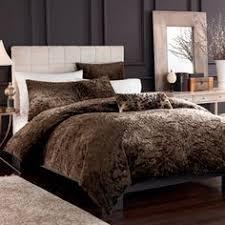 King Queen Plush Shaggy Faux Fur Brown Bear Hide Bedspread