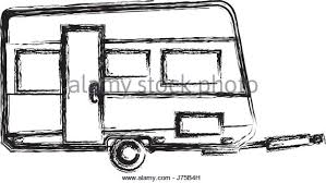 Trailer Camping Vehicle Home Transport Sketch