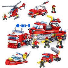 100 Fire Trucks Toys Best Promo 0edbb Kitoz 4in1 City Truck Fighter