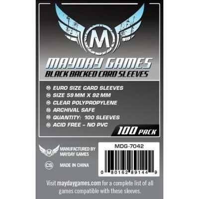 Mayday Games Backed Card Sleeves - Black, 100 Pack