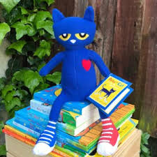 pete the cat books merrymakers pete the cat plush doll 14 5 inch