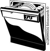 Dishwasher Clipart Illustrations 1777 Clip Art Vector