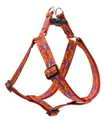 "Lupine Go Go Gecko Patterned Step In Large Dog Harness - 1"" x 24-38cm"