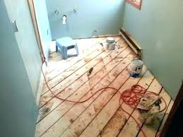 Plywood Underlayment Tile Laying On Over Floor Elegant
