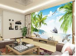 New Custom 3d Beautiful Popular Aesthetic Sea View Beach Coconut Aegean Tv Wall Background Wallpaper Hd I Images From Catherine198809100
