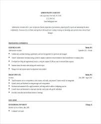 Resume Sample Administrative Assistant Buy This