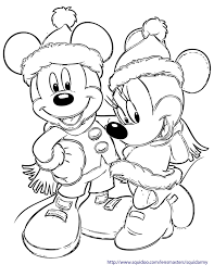 Disney Characters Christmas Coloring Pages