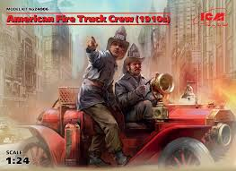 100 Fire Truck Movie 124 American Crew 1910s 2 Figures 100 New Molds