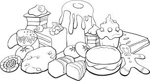Cartoon Food Picture Hot Dog Coloring Sheet Printable Pages Groups Of Full Image For