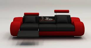 canapé design deco in canape design 3 places cuir noir et tetieres