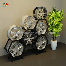 Metal Rim Car Tire Shelves Display Rack Stand Wheels