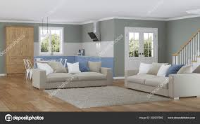 100 House Design Project Modern Interior Rendering Stock Photo