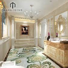 gebäude materialien marmor mosaik kunst boden fliesen design luxus villa beige marmor badezimmer interieur design buy marmor badezimmer interieur