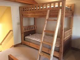 custom bunk beds montana rustic loft bunk bed