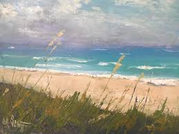 Seascape Painting Daily Small Oil Beach Memories 11x14 SOLD