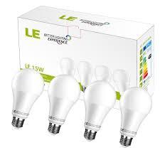 15w 100 watt equivalent 12 pack a21 led light bulb 1500 lumens