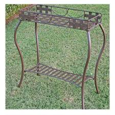 Outdoor Patio Plant Stands by Rectangular Iron Plant Stand Santa Fe Metal Outdoor Furniture