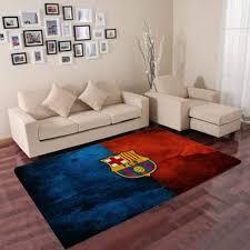 fc barcelona logo teppich wohnzimmer teppichboden rug de