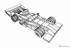 Lego Professional Race Bolide Coloring Picture