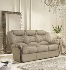 o Leather 3 Seater Sofa