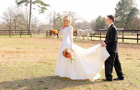 Long Sleeve Vintage Wedding Dress With Chic Rustic Touches At Centaur Arabian Farms Texas