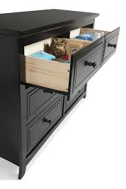 amazon com graco kendall 6 drawer double dresser black baby