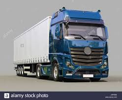 100 Panther Trucking Company A Modern Semitrailer Truck On Gray Background Stock Photo