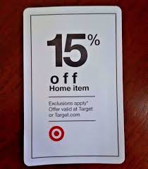 TARGET 15 OFF Coupon % Percent HOME Goods Item In STORE Or ... Public Opinion 2014 Four Coupon Inserts Ship Saves Best Cyber Monday Deals At Amazon Walmart Target Buy Code 2013 How To Use Promo Codes And Coupons For Targetcom Get Discount June Beauty Box Vida Dulce Targeted 10 Off 50 From Plus Use The Krazy Lady Target Nintendo Switch Console 225 With Toy Ecommerce Promotion Strategies To Discounts And 30 Off For January 20 Sale Store Coupons This Week Ends 33118 Store Printable Coupons Coupon Code New Printable