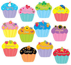 Monthly cupcake clipart