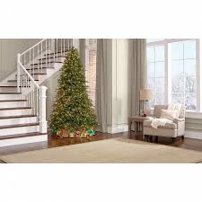 Sears Artificial Christmas Tree Stand by Ge 7 5 U0027 Pre Lit Deluxe Aspen Pre Lit Fir Tree With 800 Constanton