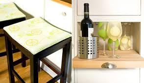 Lemons Kitchen Decor Seat Cushion Bar Stool Wine