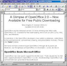A Glimpse of Open fice 2 0 Now Available for Free Public