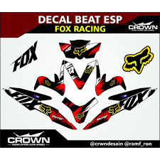 DECAL BEAT ESP - FOX RACING | Shopee Indonesia Fox Racing Head Chrome Thermal Diecut Sticker Chapmotocom Heritage Decal Kits Fox Stickers For Car Windows Motocross Decals Shox Fork And Shock Kit Red Head 3 Sticker Imported Pins Patches Stickers Peek A Boo Decal Ami Grn Head 7 Inch Foxracingcom Official 36 Float Set 2017 Fanatik Bike Co B Stop 83 Street For Cars Mossy Oak Camo 85x10 Window Full Color