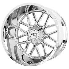 100 Moto Wheels Truck 24x14 Metal MO986 Siege 8x170 76 Chrome Rims Set4