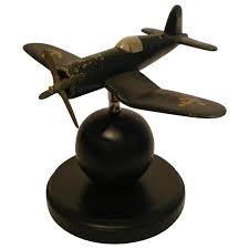 Airplane Lamp Art Deco by French Art Deco Wood And Aluminum Airplane Model Circa 1940s For