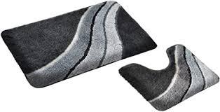 fd workstuff badematten garnitur kiel grau 2 teile badvorleger 50 x 90 cm wc vorleger 50 x 45 cm mit ausschnitt bad badewannen